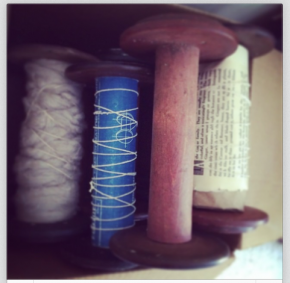 old wooden spools part of an upcoming sculpture (my first sculpture!)