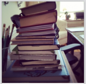 I have a separate notebook for, like, every thing. It helps me organize a very chaotic brain.