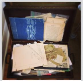 I have a big trunk where I keep interesting paper bits